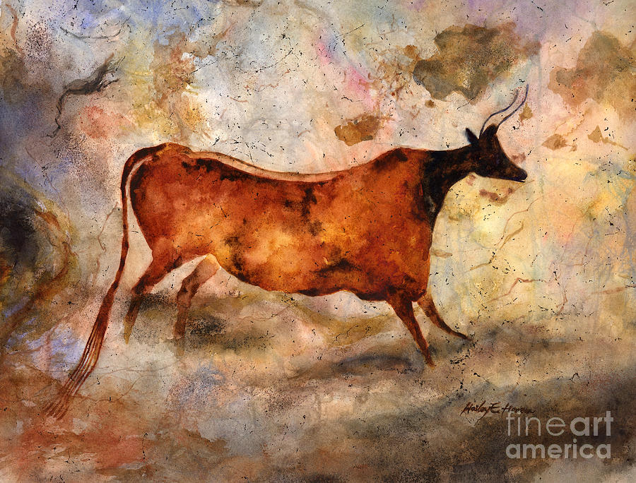 Red Cow Painting
