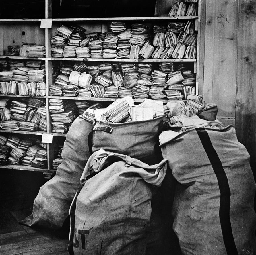 1940 Photograph - Red Cross: Mail, 1940 by Granger
