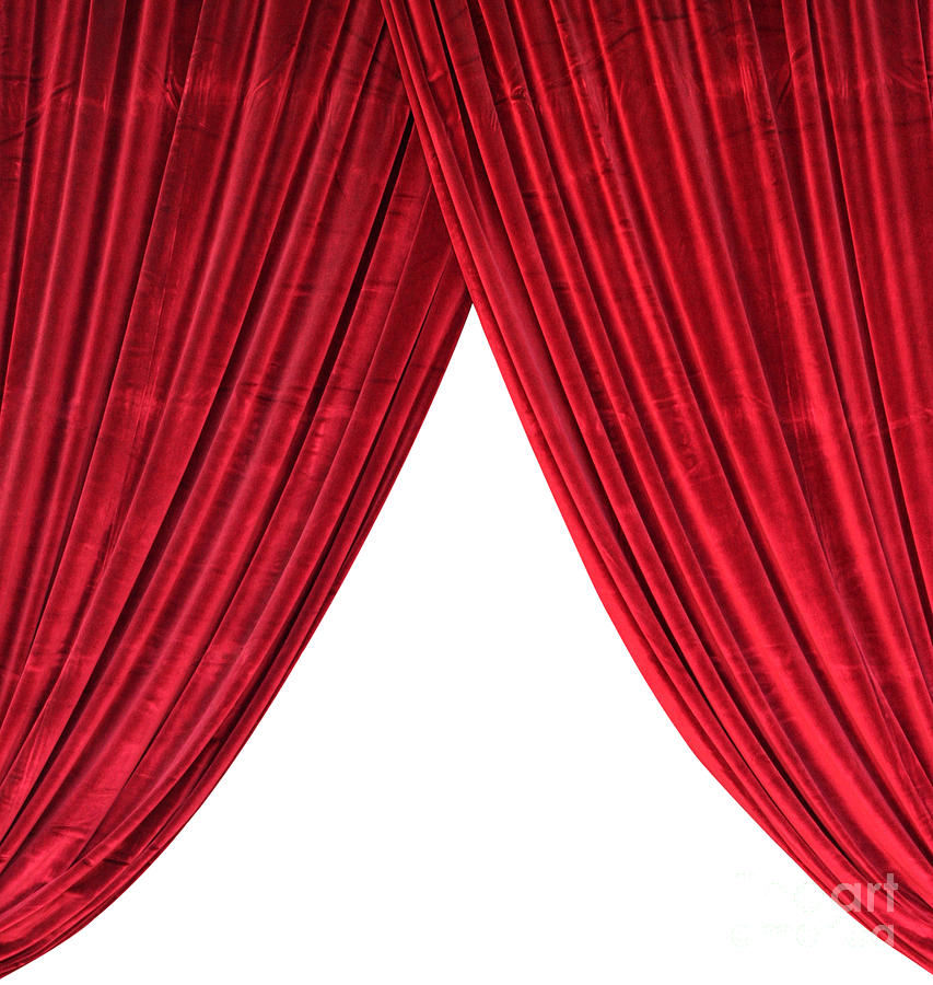 curtain red red curtain digital art fabric theater