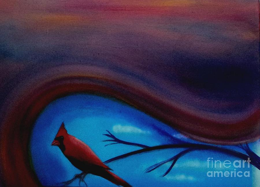 Cardinals Painting - Red by Cynthia Vaught