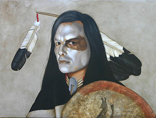 American Indian Painting - Red Dawn by K Henderson