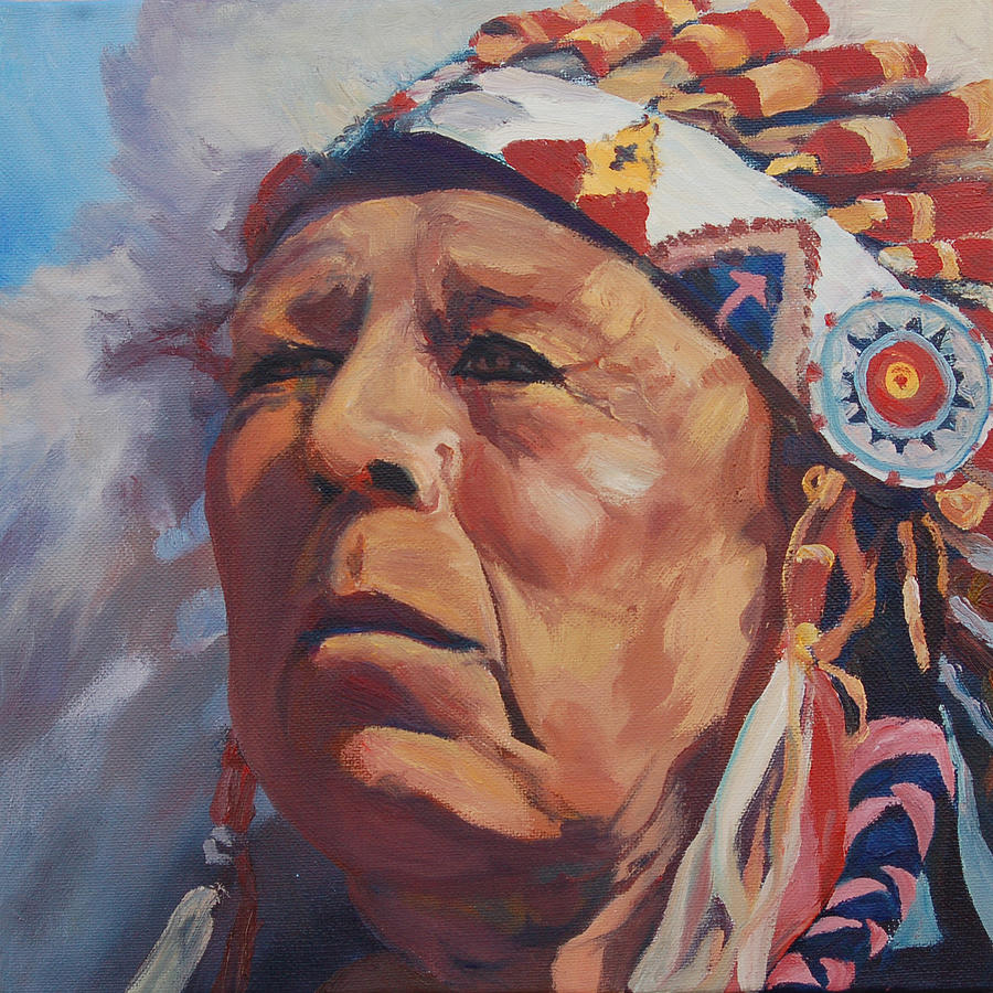 Native American Painting - Red Deer by Christine Lytwynczuk