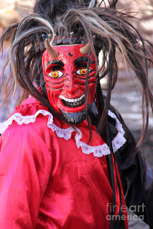 Parade Photograph - Red Devil At The Santa Prisca Parade by Linda Queally