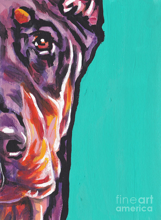 Red Doberman Pinscher Painting - Red Dobie Man by Lea S