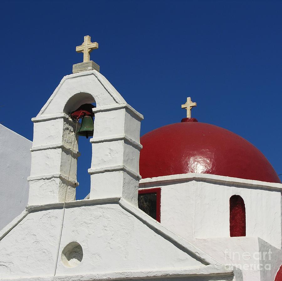 Church Bells Photograph - Red Dome Church 2 by Mel Steinhauer