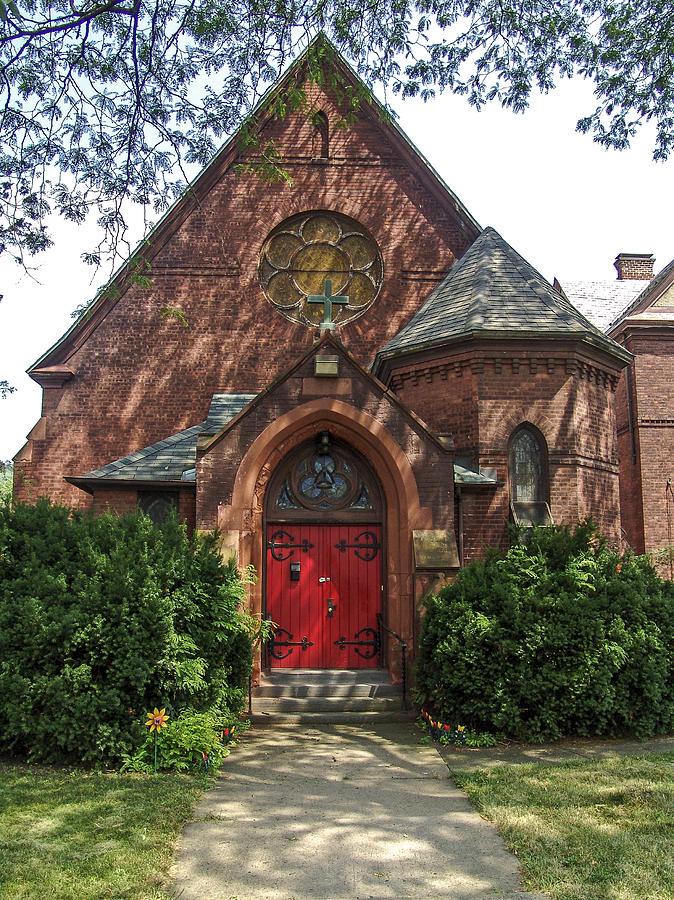 Red Door Photograph - Red Door Church by Eric Swan