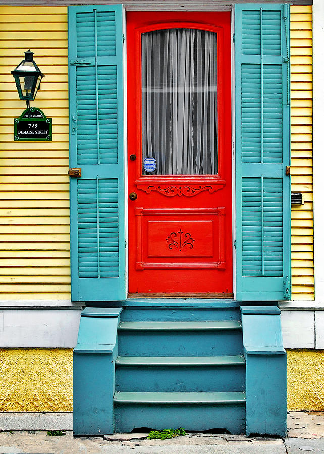 Red Door In New Orleans Photograph By Christine Till