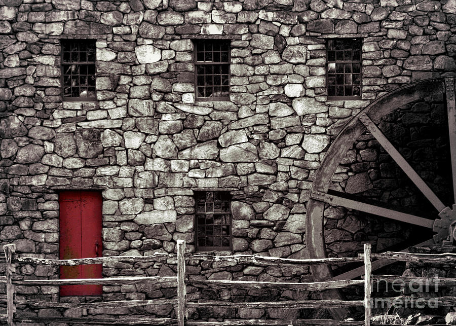 Gristmill Photograph - Red Door by Jayne Carney