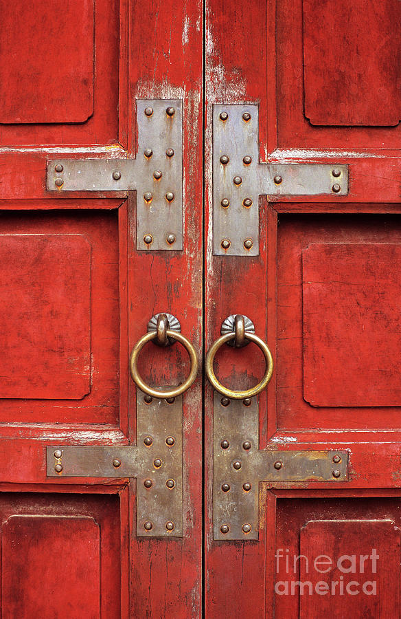 Vietnam Photograph - Red Doors 01 by Rick Piper Photography