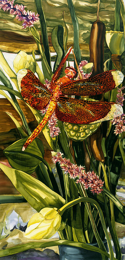Red Dragonfly by Artimis Alcyone