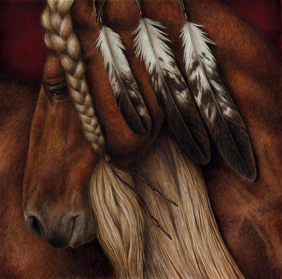 Horse Painting - Red Eagle by Pat Erickson