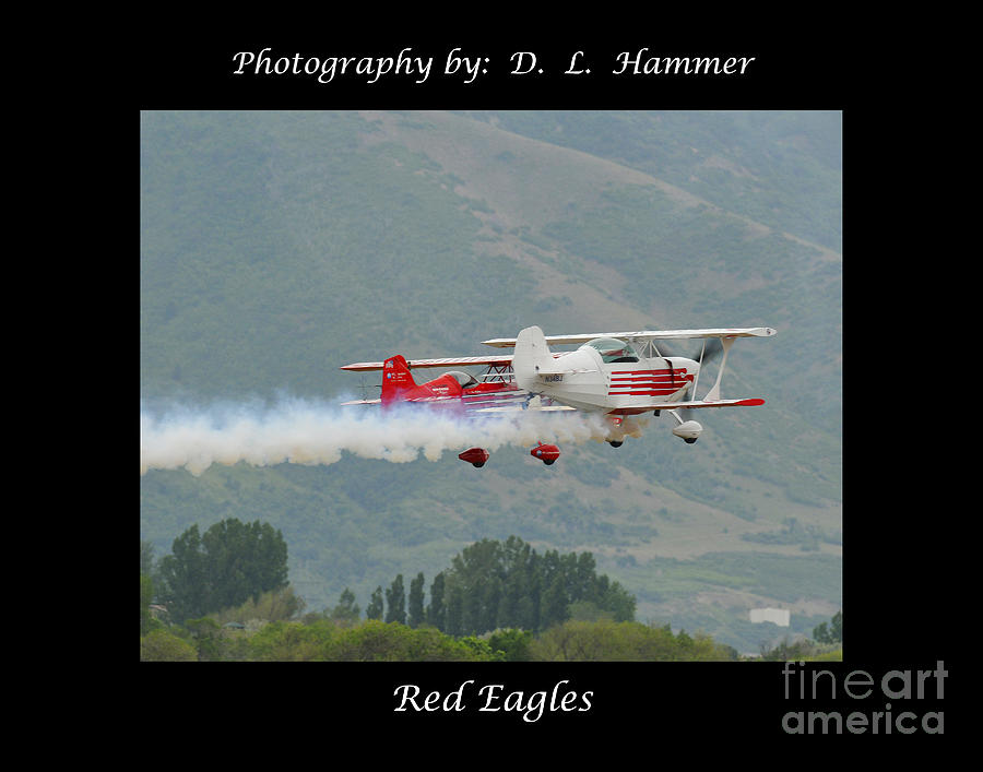 Vehicles Photograph - Red Eagles by Dennis Hammer