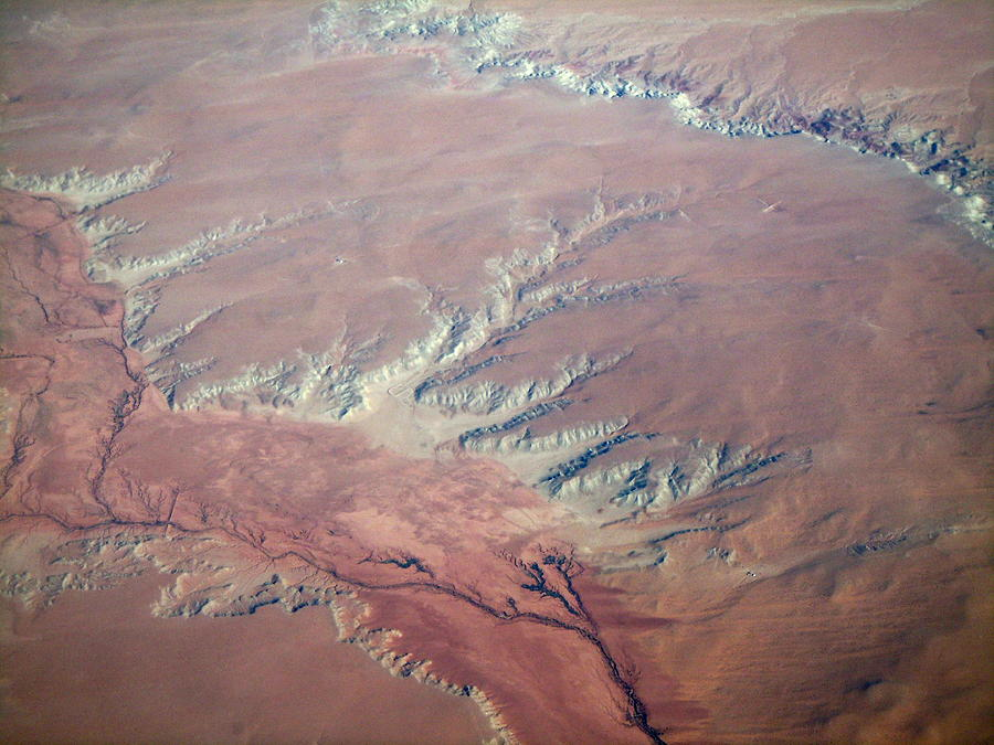 Plane Photograph - Red Earth by Pamela Schreckengost