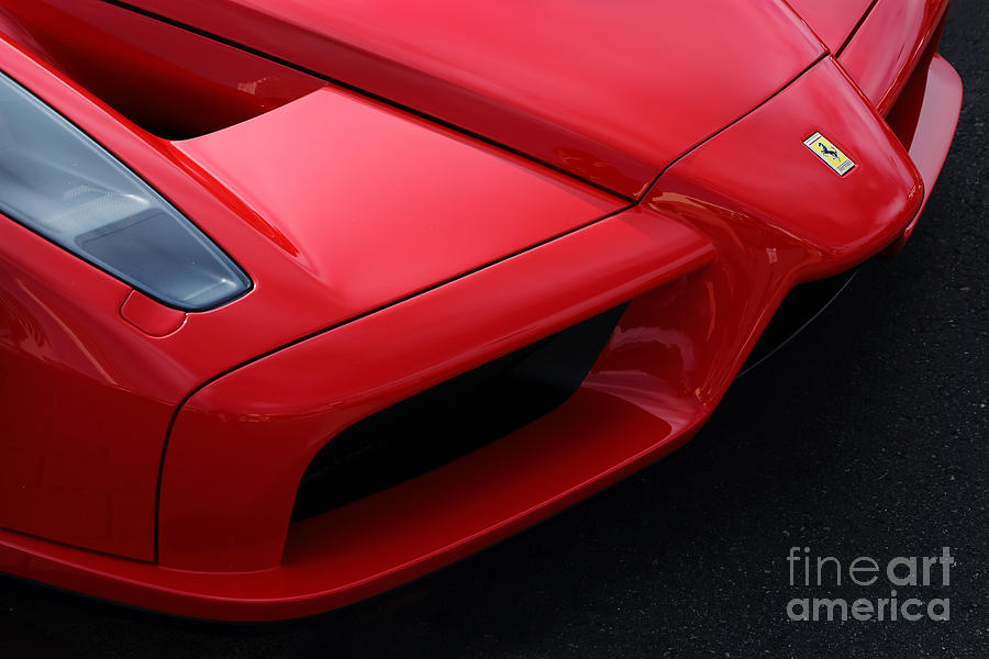 Ferrari Photograph - Red Enzo by Dennis Hedberg