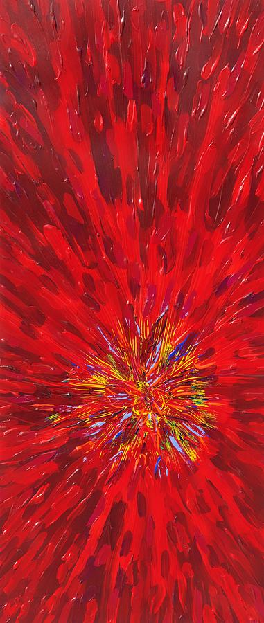Abstract Painting - Red Explosion 14-37 by Patrick OLeary