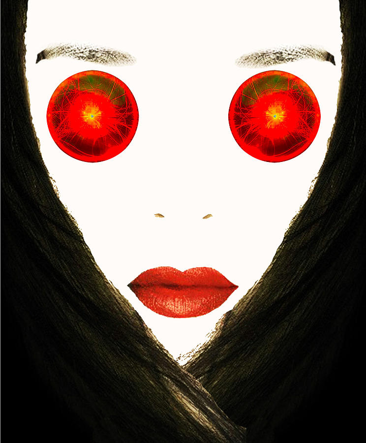 Portraits Photograph - Red Eyes by Bruce Iorio