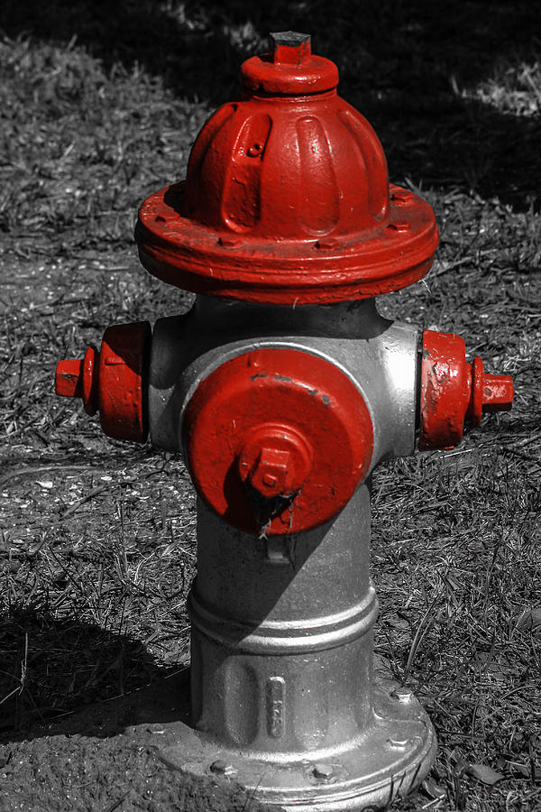 Fire Photograph - Red Fire Hydrant by Steven  Taylor
