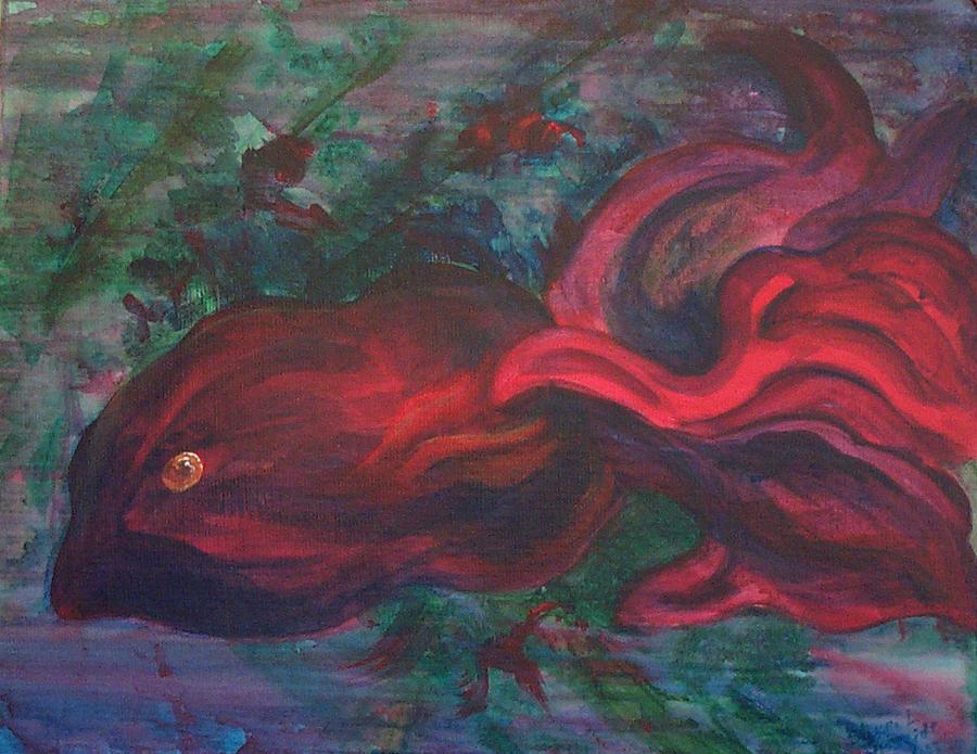 Red Painting - Red Fish by Sheri Lauren Schmidt
