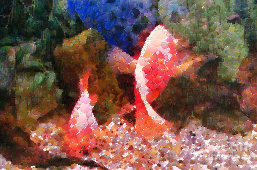 Fishes Painting - Red Fishes Painting by Magomed Magomedagaev