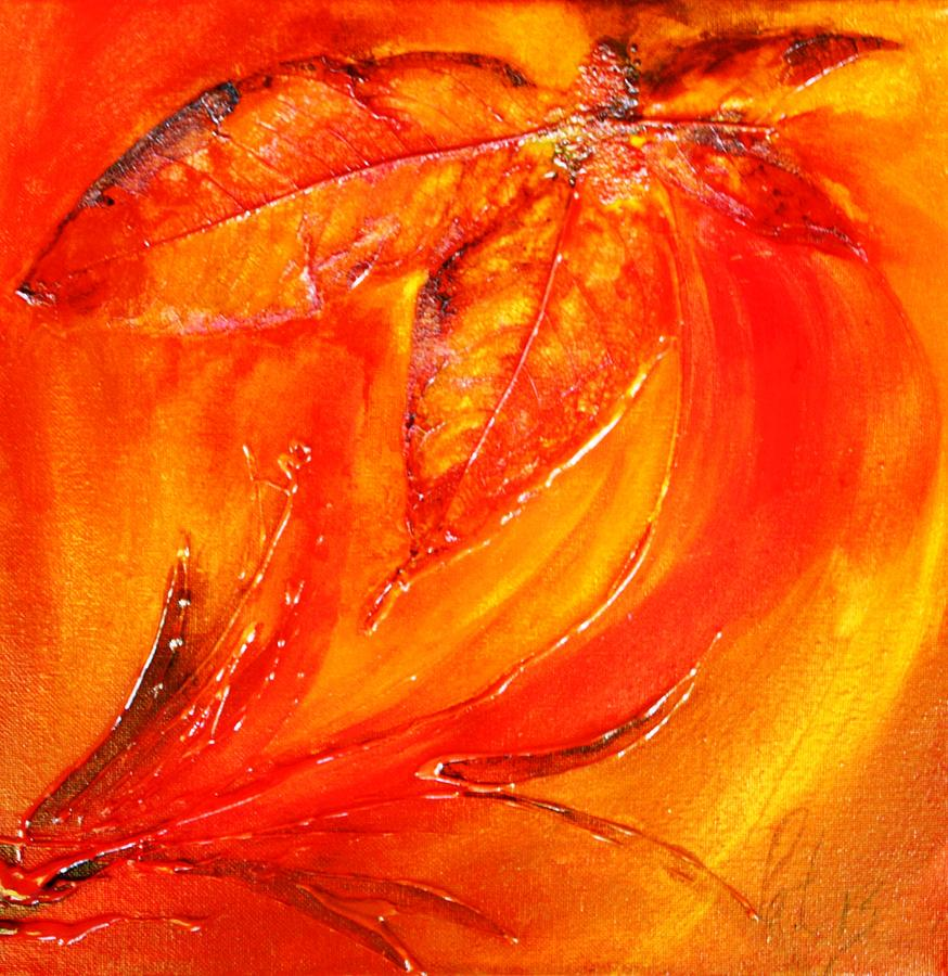 Flower Painting - Red Flower by Pat Purdy