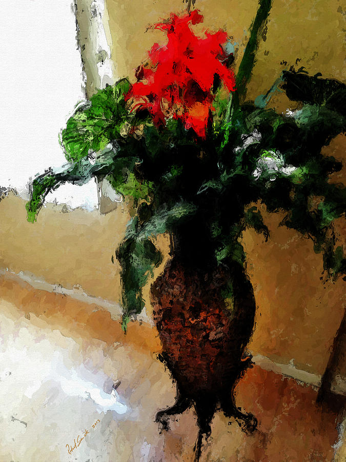 Flower Painting - Red Flower Stance by Robert Smith