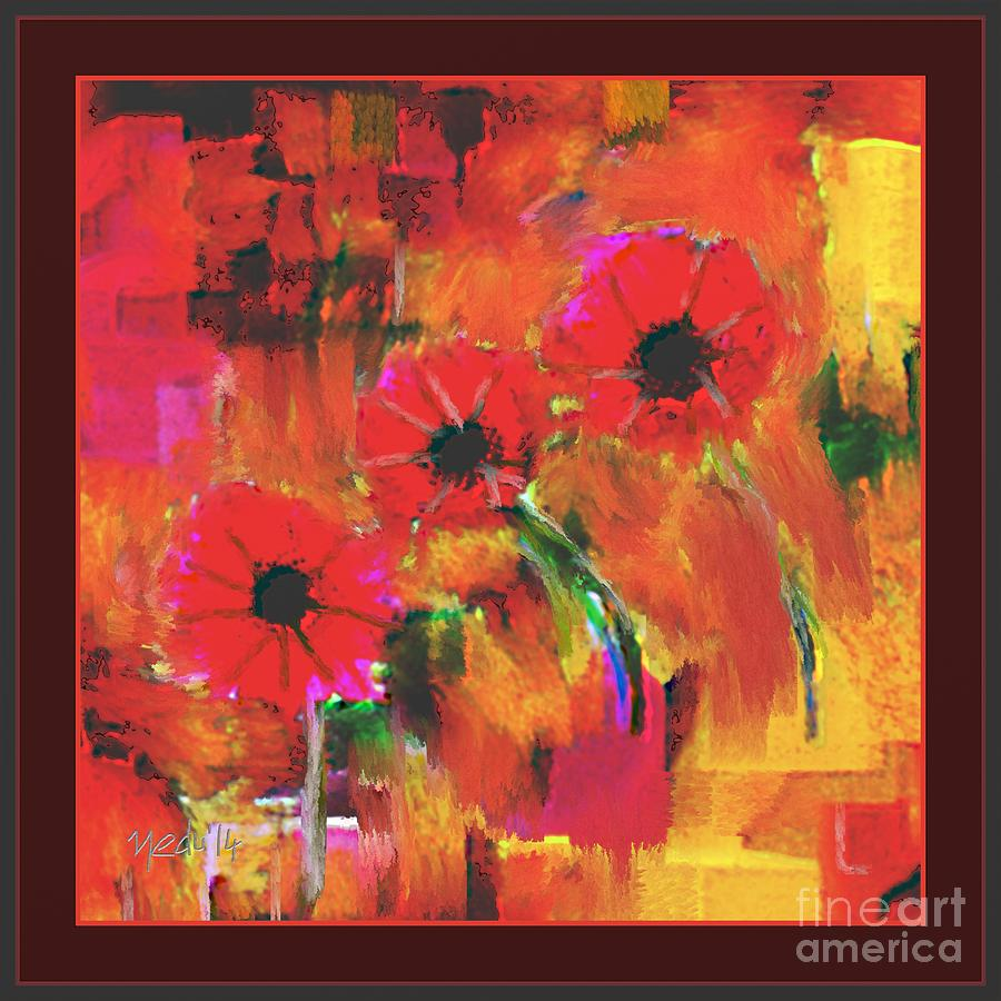 Canvas Prints Painting - Red Flowers by Nedunseralathan R