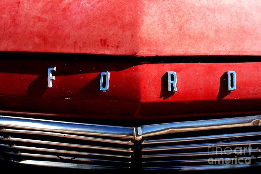 Ford Photograph - Red Ford 1 by Kathlene Pizzoferrato