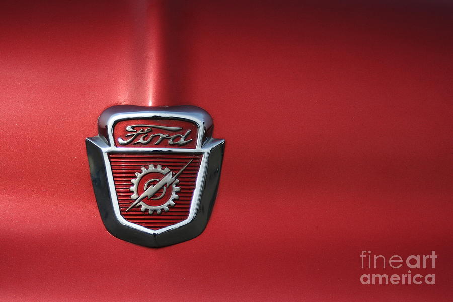 Ford Photograph - Red Ford 2 by Kathlene Pizzoferrato