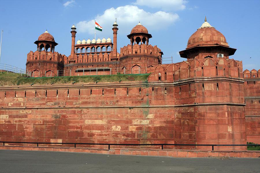 India Photograph - Red Fort New Delhi India by Aidan Moran