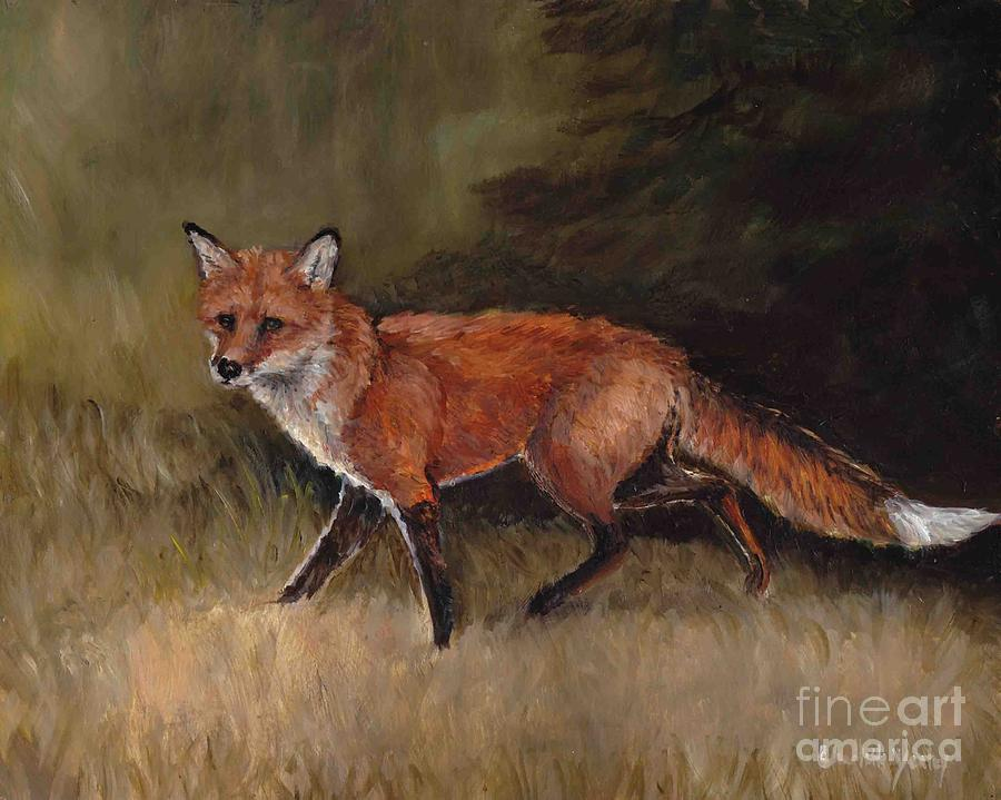 Animal Painting - Red Fox by Charlotte Yealey