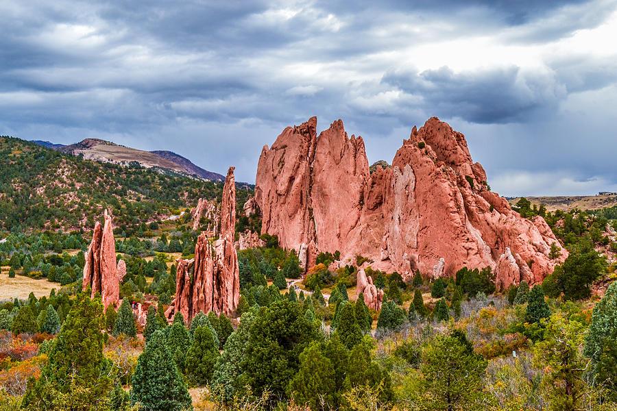 Red Rocks Digital Art - Red Giants by Sergio Aguayo