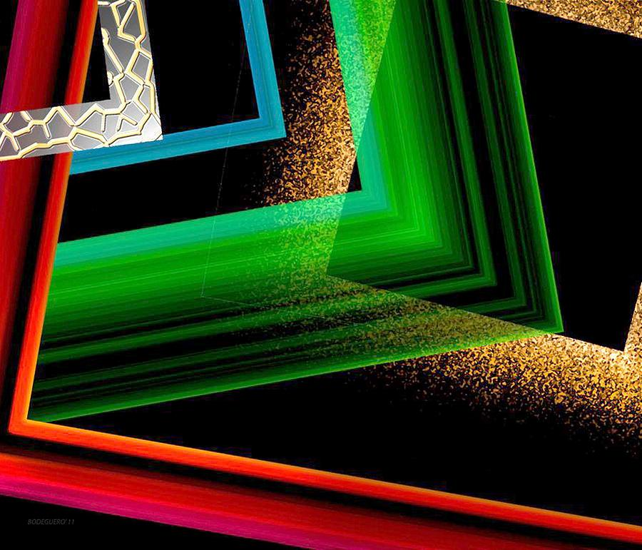 Colored Digital Art - Red Green And Brown Abstract Art by Mario Perez