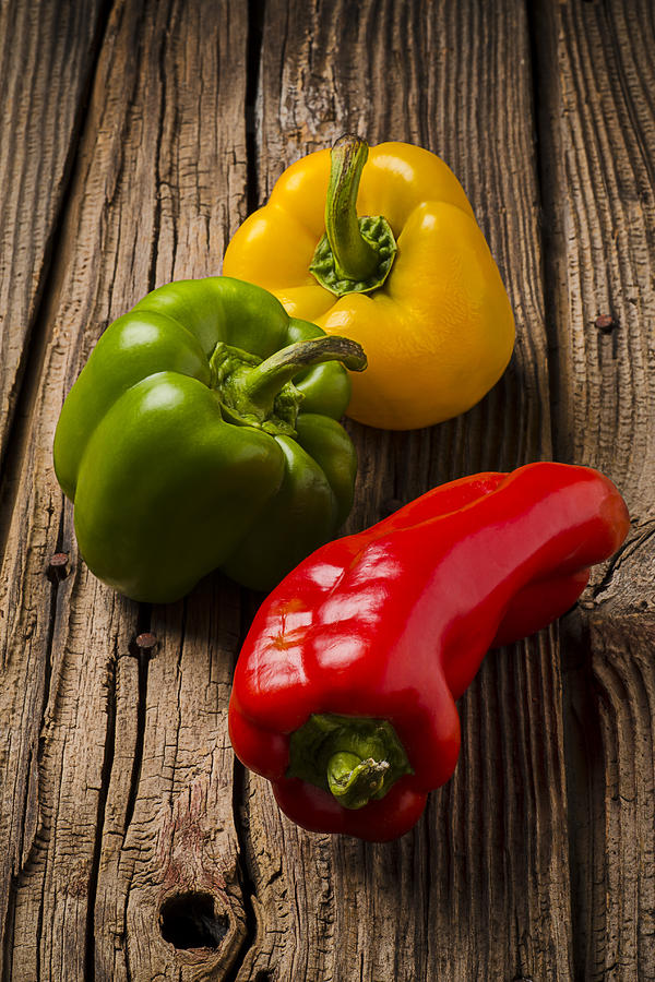 3491144a3fd7 Red Green Yellow Peppers by Garry Gay