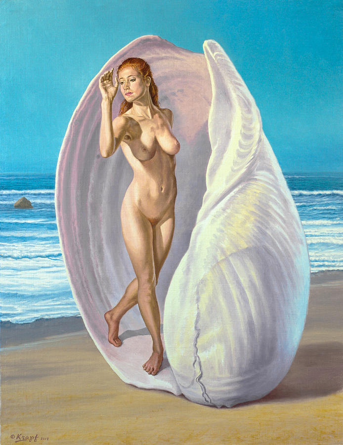 Figure Painting - Red-haired Venus by Paul Krapf