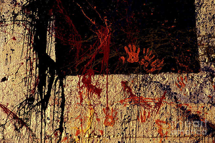 Graffiti Photograph - Red Hands by Paul W Faust -  Impressions of Light