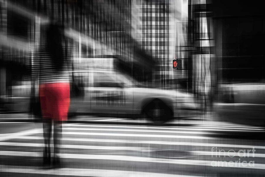 Nyc Photograph - RED by Hannes Cmarits