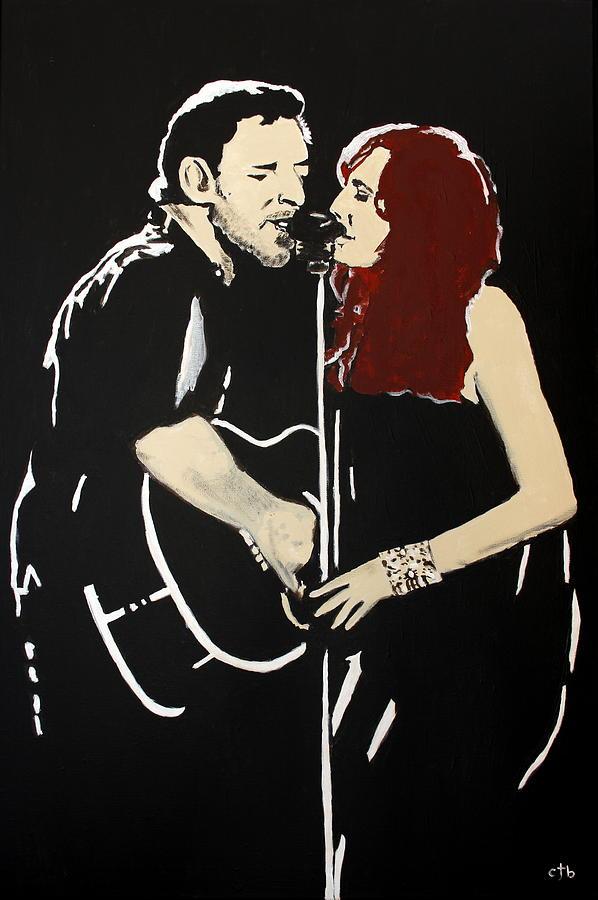 Bruce Springsteen Painting - Red Headed Woman by Carmencita Balagtas