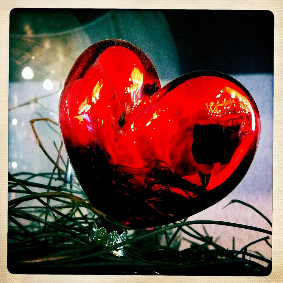 Heart Photograph - Red heart by Matthias Hauser