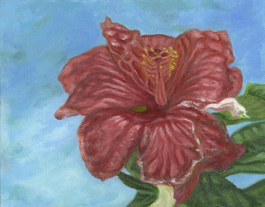 Red Hibiscus by Michael Allen Wolfe