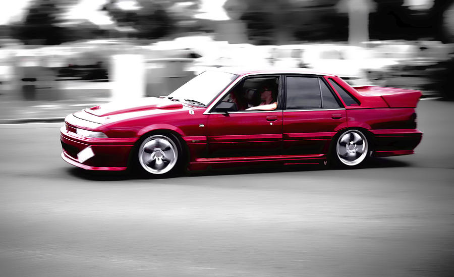 Fast Holden Photograph - Red Holden by Phil motography Clark