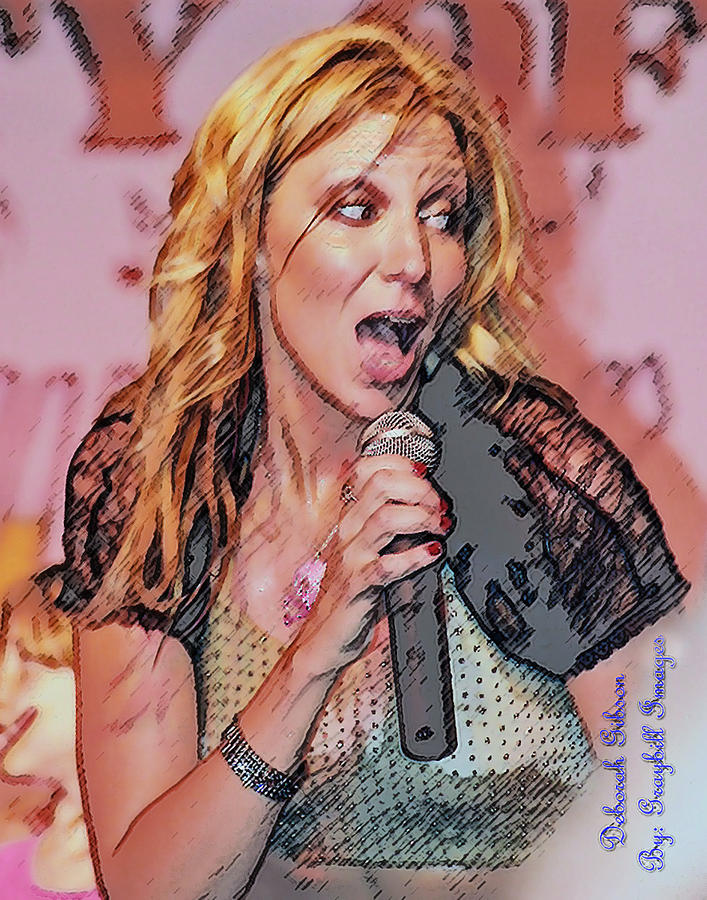 Debbie Gibson Photograph - Red Hot by Brian Graybill