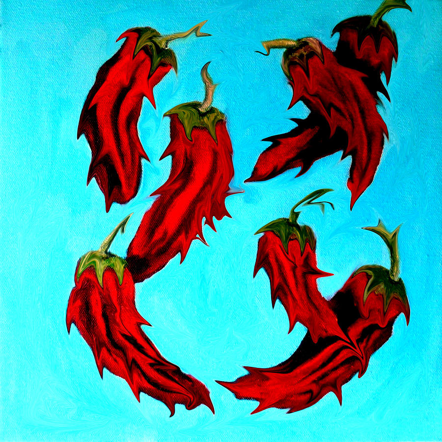 red hot chili peppers painting by katy hawk. Black Bedroom Furniture Sets. Home Design Ideas