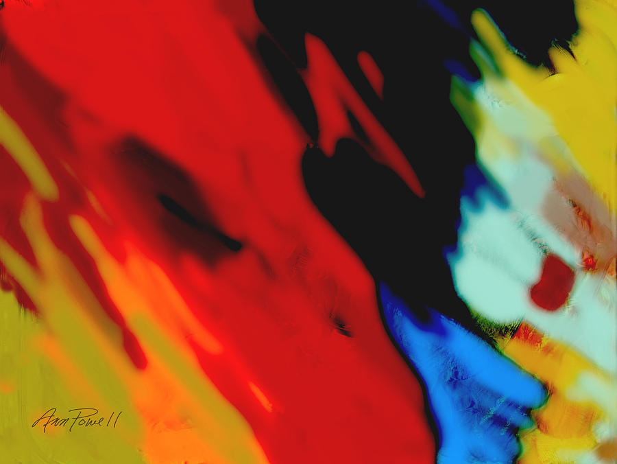 Abstract Painting - Red Hot Fiesta  by Ann Powell