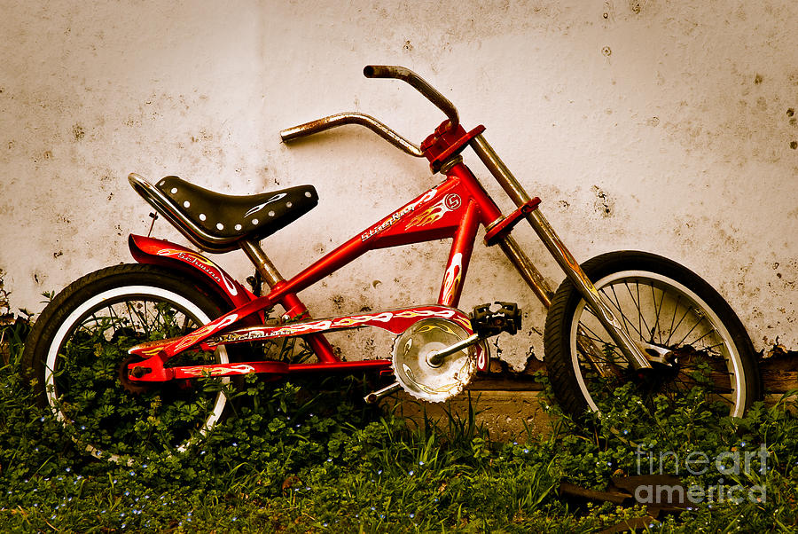 Red Bike Photograph - Red Hot Stingray Bike by Sonja Quintero