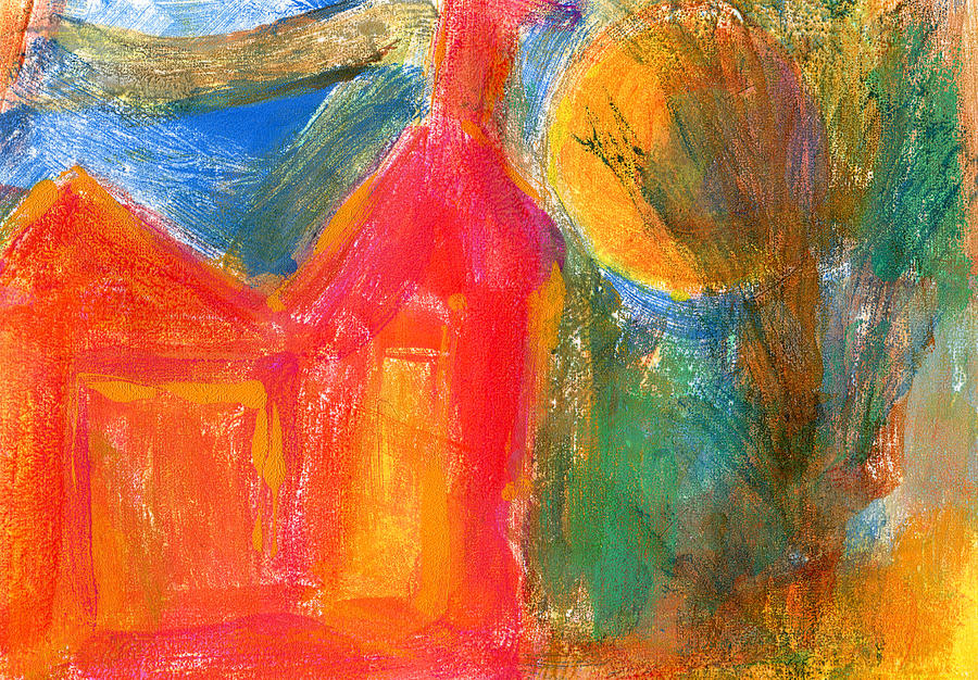 Red House Mixed Media - Red House 3 by Catherine Redmayne