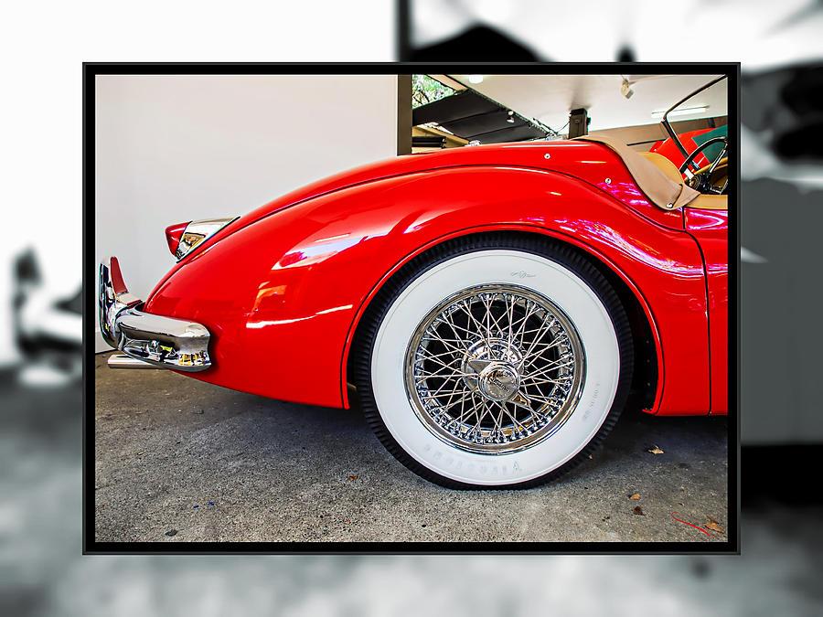 Red Jaguar Xk 140 Photograph by SM Shahrokni