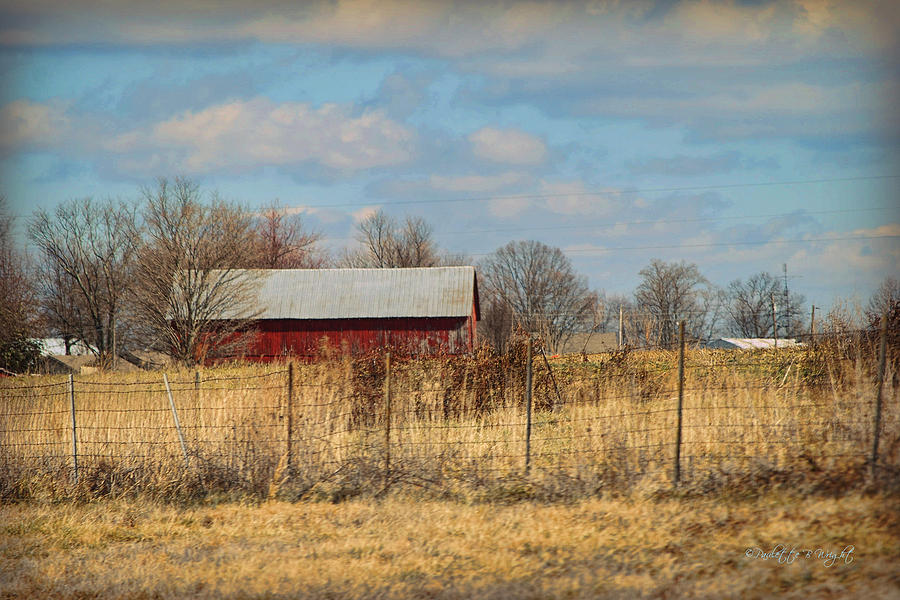 Wright Photograph - Red Kentucky Relic by Paulette B Wright