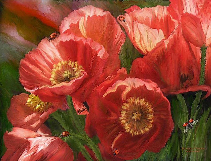 Poppy Mixed Media - Red Ladies Of Summer by Carol Cavalaris