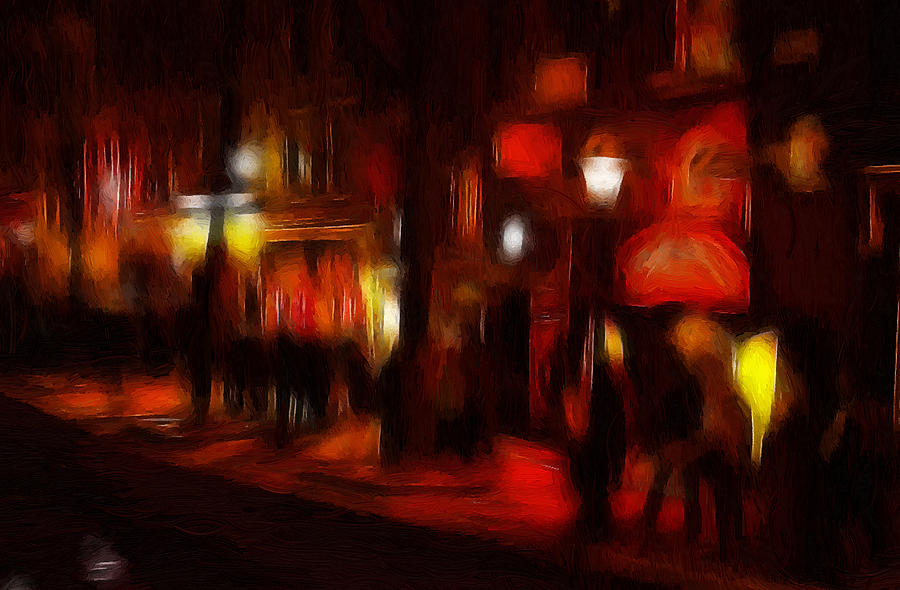 Red Light District Painting by Steve K