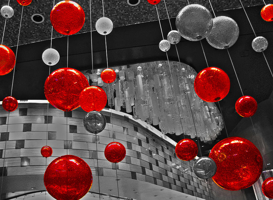 Contemporary Photograph - Red Lights In Vegas by Gail Lawnicki